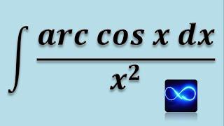 Integral de arco coseno entre x^2, integral por partes