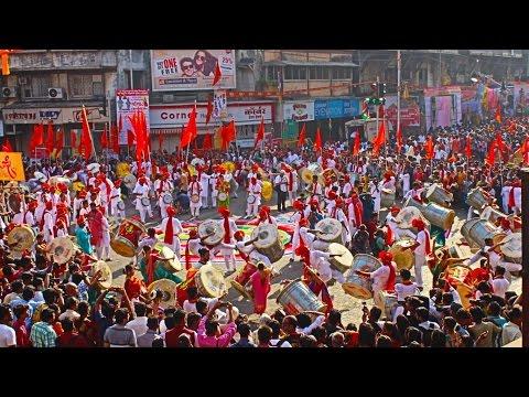Jagdamb Dhol Tasha Pathak | Gudhi Padwa Shobhayatra 2017 | Girgaon Church Mumbai