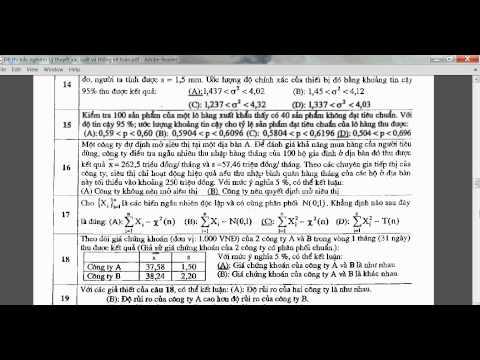 Bài tập lý thuyết xác xuất thống kê toán