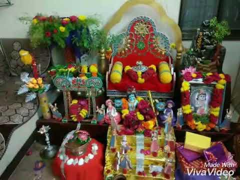 Krishna Janmashtami Decoration Celebration At Home 2017