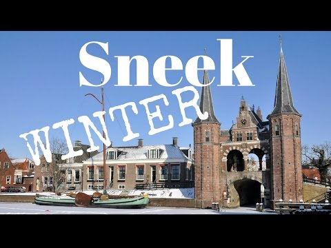 Sneek, Friesland, The Netherlands (a beautiful winterday) GoPro .. Cycling Tour