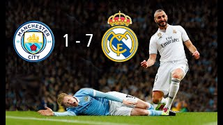 Manchester City vs Real Madrid (1-7) Resumen & Goles - Highlights & Goals - Previa Champions League
