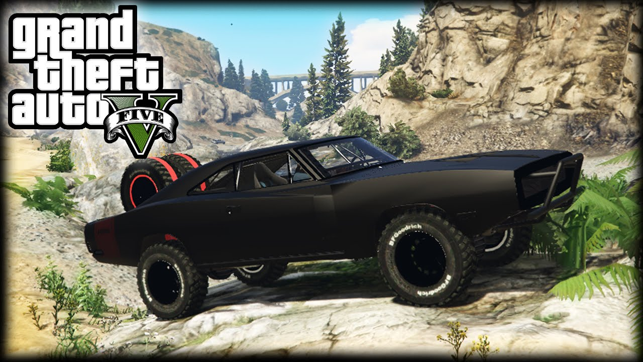 EPIC FAST FURIOUS OFFROAD DODGE CHARGER GTA PC Mods - Epic stunt driving dodge challenger