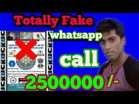 KBC Lottery Fake Call From Whatsapp/ 25 Lakhs Lottery.