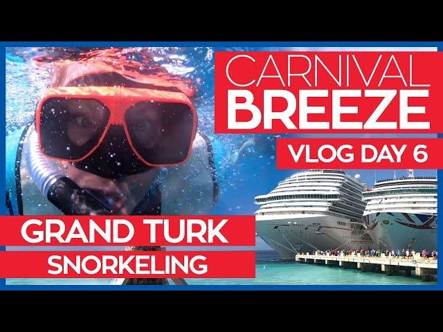 Carnival Breeze   Cucina Del Capitano & Snorkeling in Grand Turk   Cruise Vlog Day 06