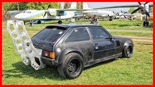 Weirdest Drag Car. You've Never Seen A Car With Such Strange Tuning Design.