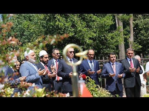 Cumhurbaşkanı Erdoğan, 15 Temmuz şehitlerinin kabirlerini ziyaret etti
