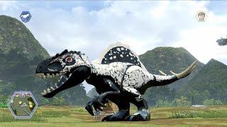LEGO Jurassic World - Mosasaurus Free Roam Gameplay (Plus Sneaking Indominus Rex Underwater!)
