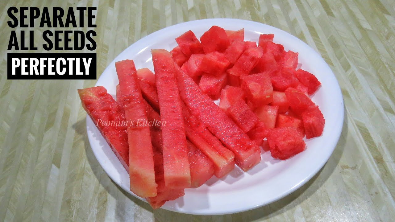 Easiest Way To Remove Watermelon Seeds How To Remove Watermelon Seeds