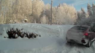 bmw X6 vs Range Rover and Landcruiser in snow part 2