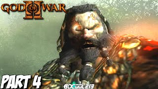 GOD OF WAR 2 GAMEPLAY WALKTHROUGH PART 4 BARBARIAN KING BOSS FIGHT - PS3 LET