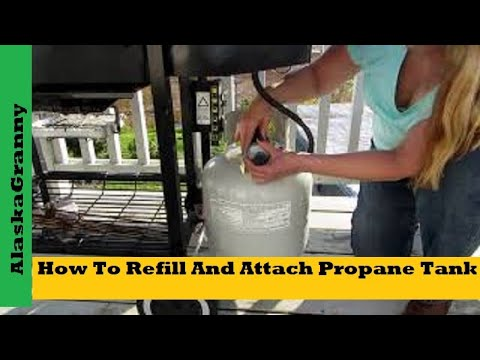 hook up 100 pound propane tank