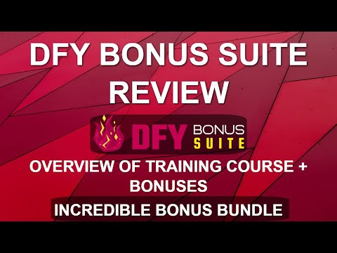 DFY Bonus Suite Review and Overview | WordPress Bonus Page Training Course thumbnail