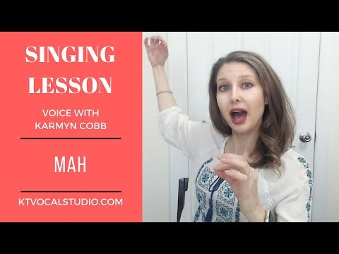 Lesson #7 - How to do the Mah Exercise - Free Voice Lesson