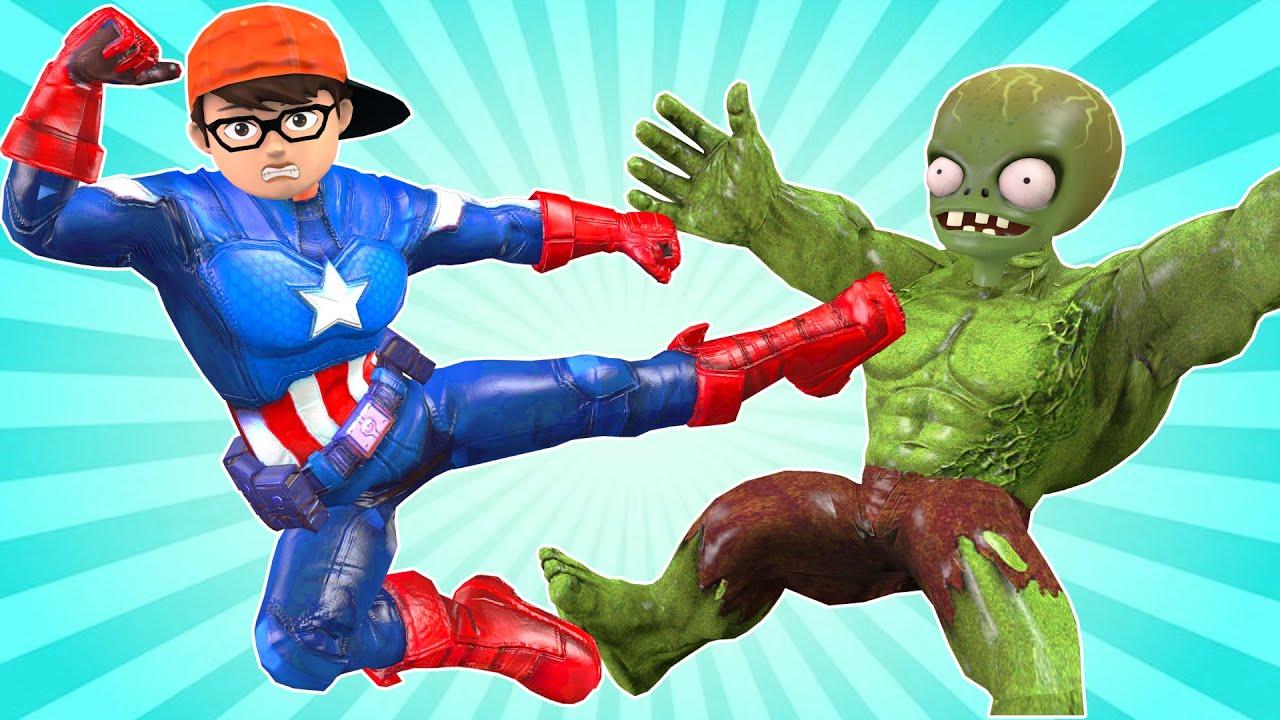 Scary tacher 3D Nickhulk vs giant zombie hulk - Superheroes Captain Nickhulk recuse Tani Gaming