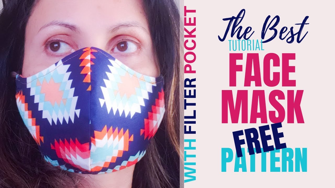 How to Sew the Best Fabric Face Mask with Filter Pocket? [9 FREE PATTERNS]