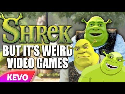 Shrek but it's just weird video games