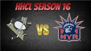 Roblox HHCL Season 16 Game 7 Regular Season Pittsburgh Penguins vs New York Rangers