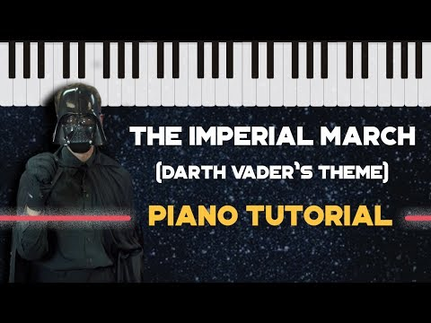 How to Play Imperial March Darth Vader Theme  Easy Piano Versi