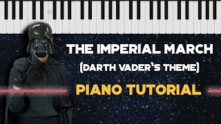 How to Play Imperial March (Darth Vader Theme) - Easy Piano Version