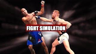 Conor McGregor vs Donald Cerrone - Fight Simulation