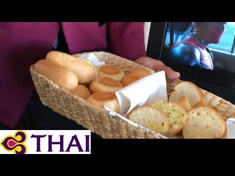 Thai Airways Royal Silk Class Meal Service タイ国際航空 ロイヤルシルククラス 機内食