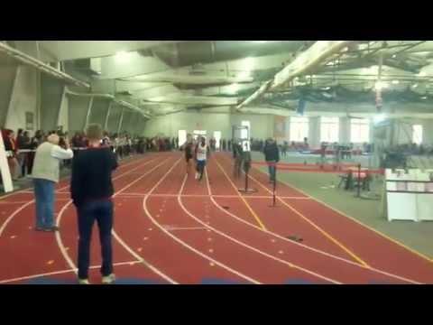 Sean's 1600M race at the 2015 VISAA Indoor Championship - St Christophers School in Richmond, VA