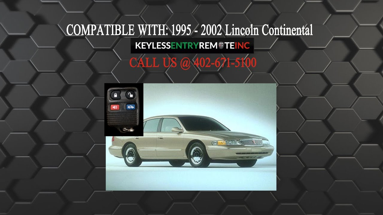 How To Replace Lincoln Continental Key Fob Battery 1995 2002 Youtube