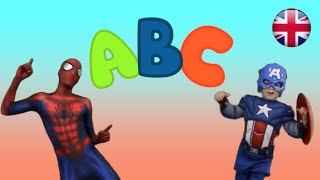 alphabet song with spiderman captain america kids song