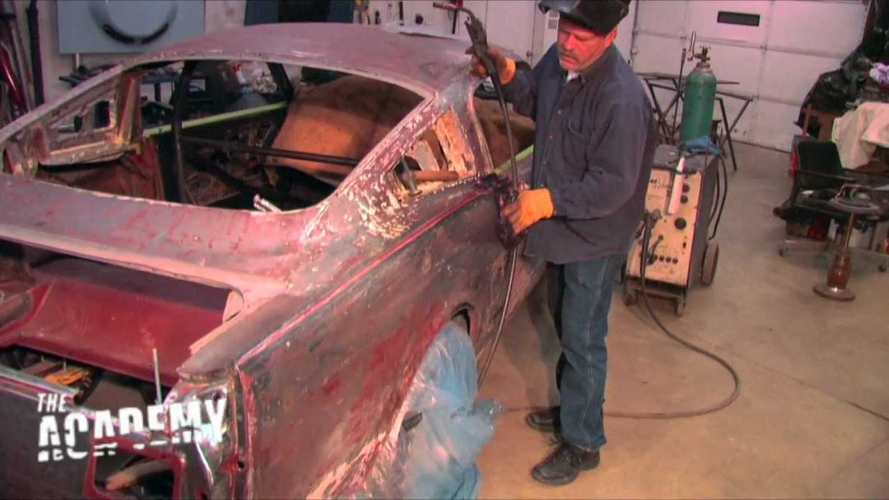 1966 Coupe To Fastback Conversion Welding On The New Roof Muscle Car Fan