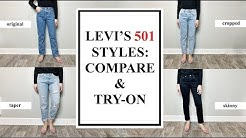 Levi's 501 Styles (Comparison & Try On): ORIGINAL, SKINNY, TAPER, CROPPED