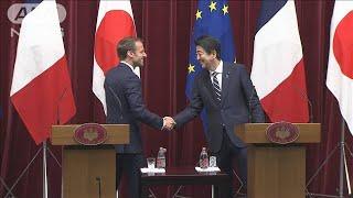 日仏首脳会談 海洋安全保障の協力強化で一致(19/06/27)