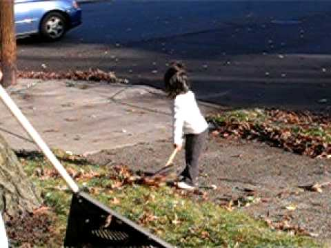 Raking girl #2