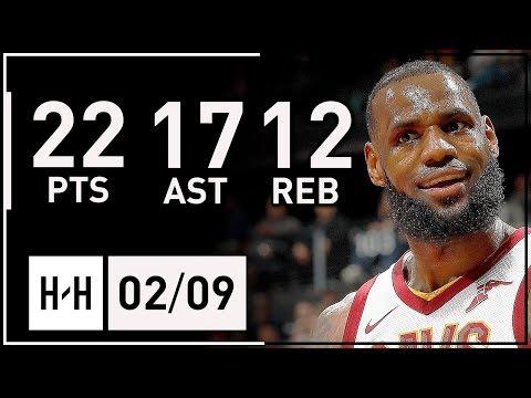 LeBron James NASTY Triple-Double Highlights Cavs vs Hawks (2018.02.09) - 22 Pts, 17 Ast, 12 Reb!