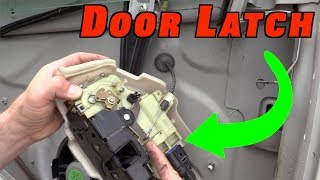 How To Check aฑd Replace a Door Latch MK5 GTI