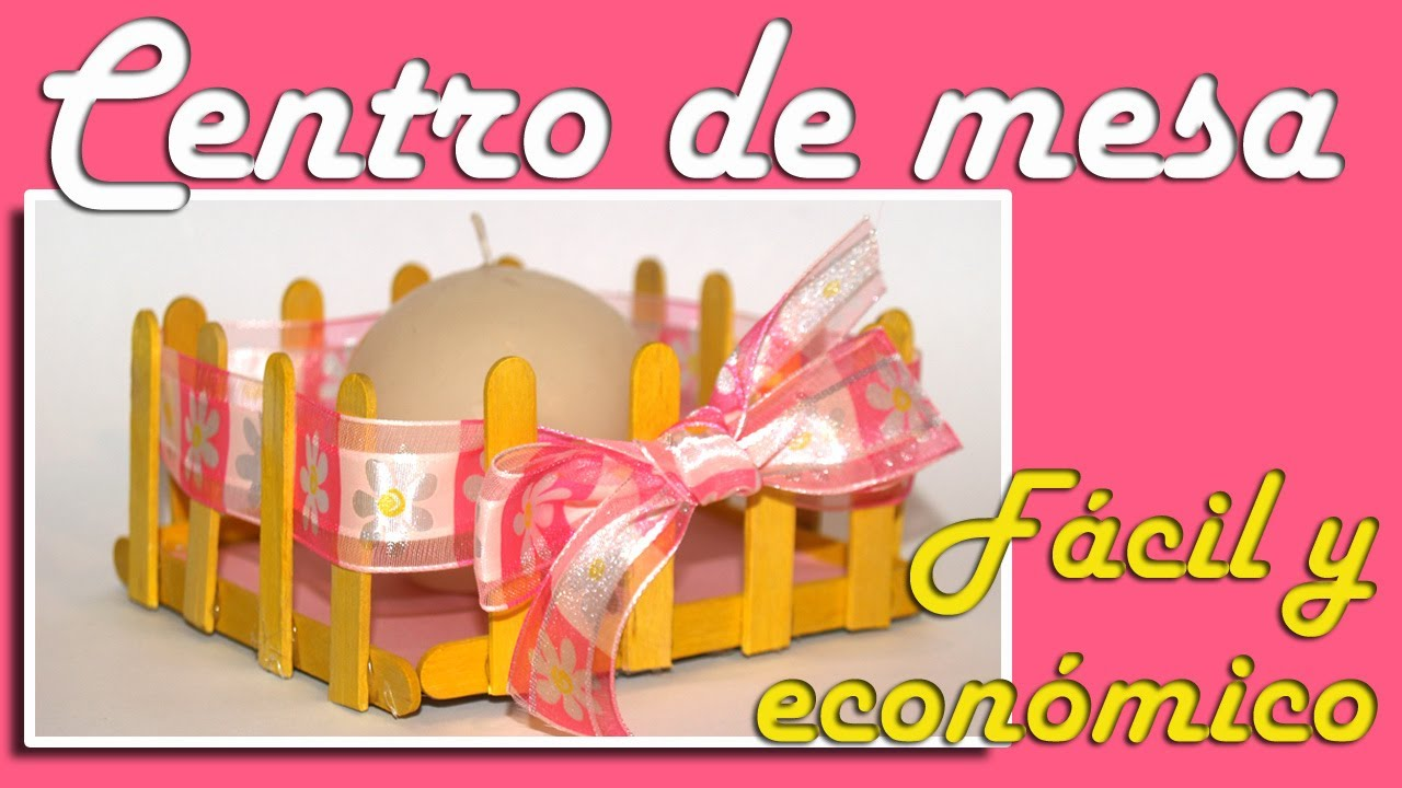 centro de mesa facil y econmico comunin bautizo o boda diy easy and inexpensive centerpiece youtube