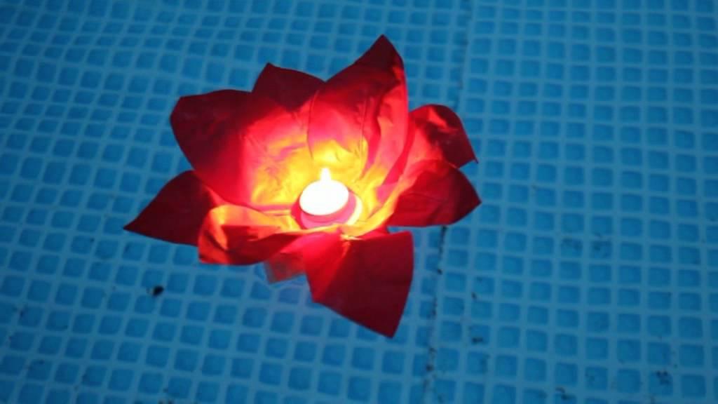 schwimmende kerzen selber machen, romantische wasser laterne in blüten form von clubtrend.de - youtube, Design ideen