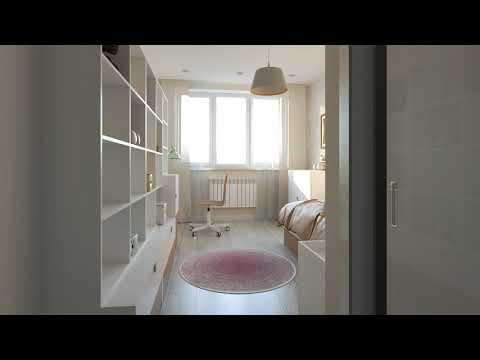 Трехкомнатная квартира 87 кв в Одинцово - дизайн-проект