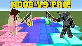 Minecraft: NOOB VS PRO!!! - FISHING FOR GOLD! - Mini-Game