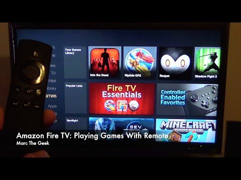 Amazon Fire TV Playing Games with Remote