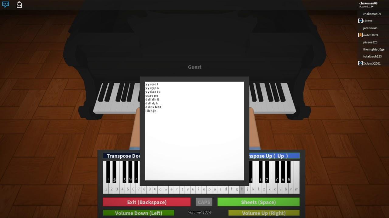 Happy Birthday I Roblox Piano Tutorial Youtube - how to play piano happy birthday song in roblox