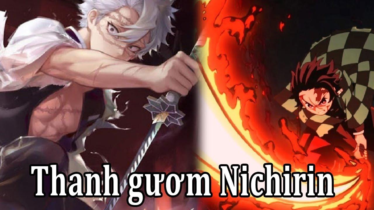 Tất tần tân về thanh gươm diệt quỷ Nichirin trong Kimetsu Yaiba