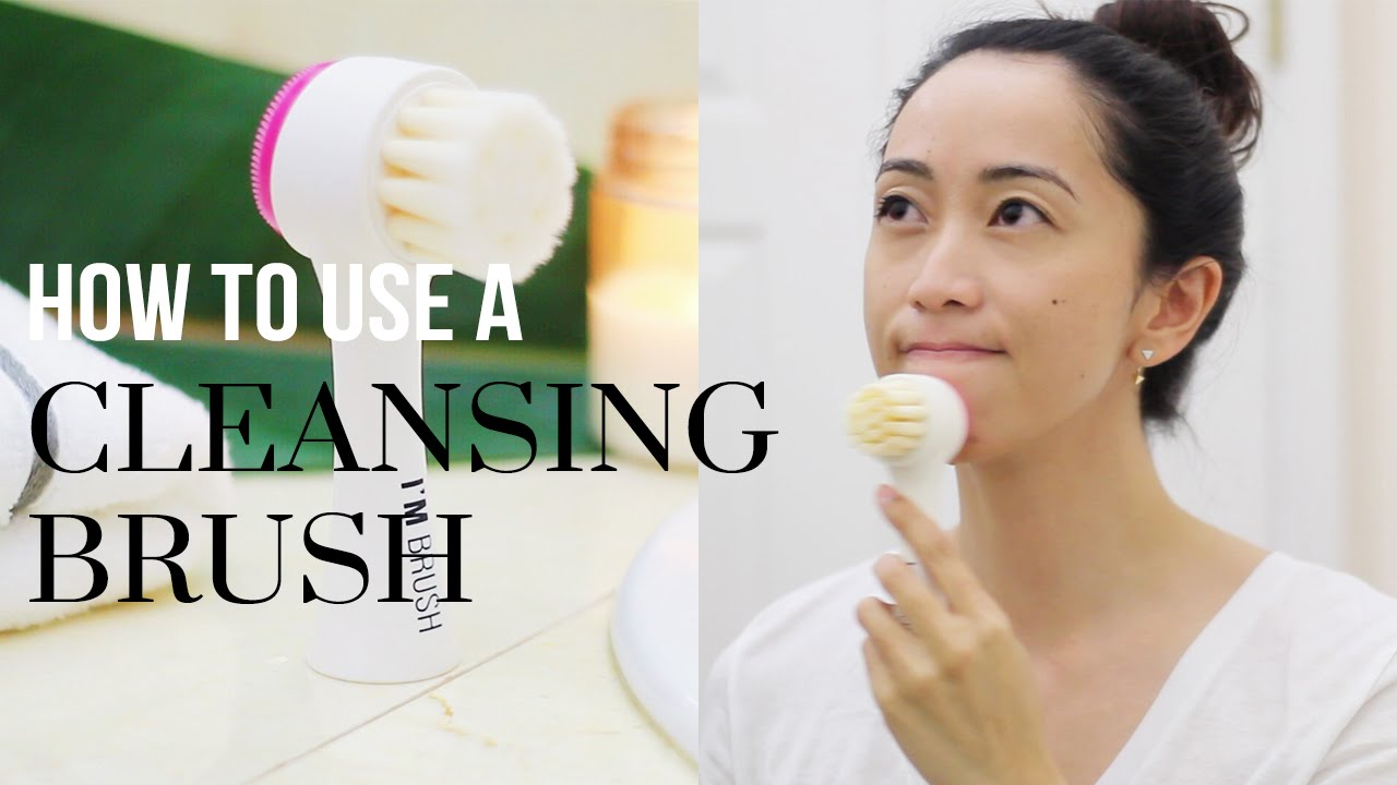 995a3cbc66 How To Use a Facial Pore Cleansing Brush ft. Memebox's I'm Brush |  LookMazing - YouTube