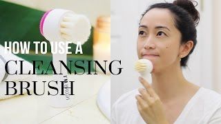 How To Use a Facial Pore Cleansing Brush ft. Memebox's I'm Brush | LookMazing