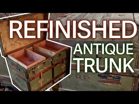 DIY: Refinishing An Antique Trunk