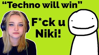 Dream SWEARS at Niki after she roasted him!  Dream SMP