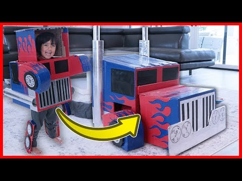 Costumes turns Ryan into Transformers Pretend Play fun!!!