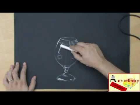 Imparare A Disegnare Con La Tecnica Del Gessetto Bianco Youtube