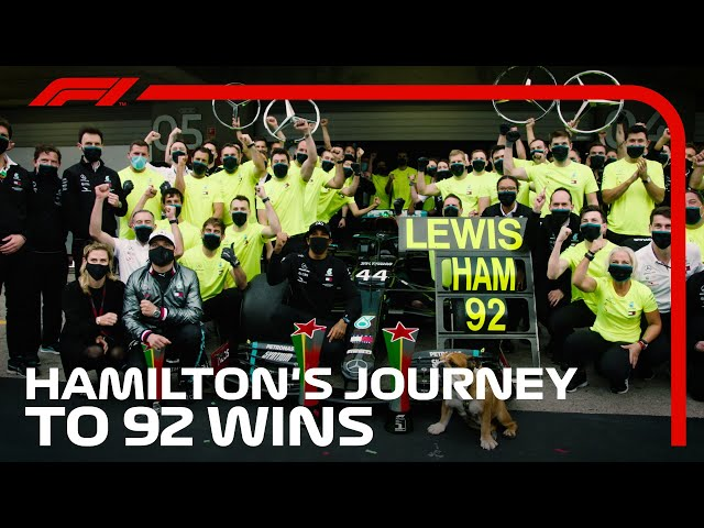 Lewis Hamilton's Incredible Journey To 92 Wins