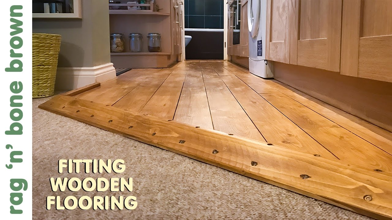 Laying Wooden Flooring In A Kitchen   YouTube Laying Wooden Flooring In A Kitchen